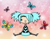 Ragazza con le farfalle