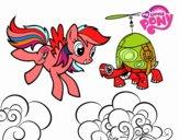 Disegno Rainbow Dash and Tank Turtle pitturato su ada2012