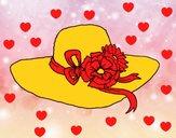 Cappello con fiori