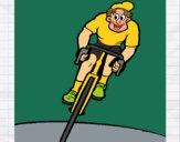 Ciclista con il berretto