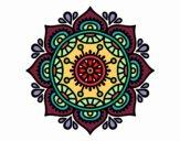 Disegno Mandala per rilassarsi pitturato su pyrex