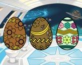 Tre uovo di Pasqua