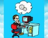 Informatico pensativo