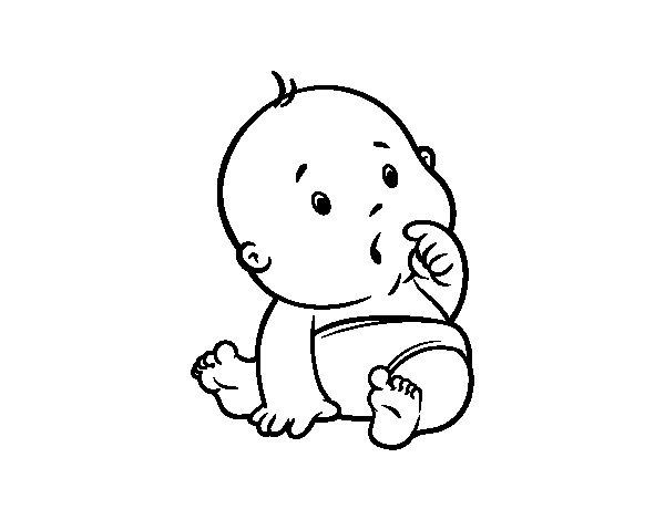 Disegno di Bambino sorpreso da Colorare - Acolore.com